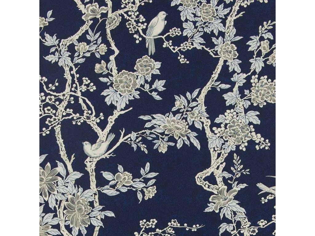 Marlowe Floral Aqua and Blue Wallpaper PRL048 04