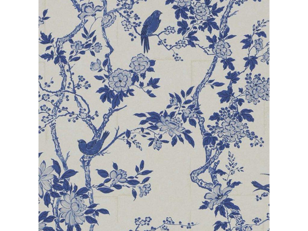 Marlowe Floral Aqua and Blue Wallpaper PRL048 05