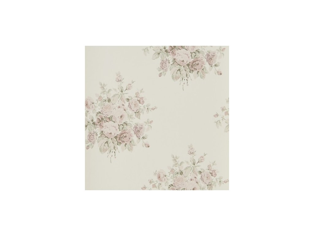 Wainscott Floral Pink and Purple Wallpaper PRL707 03