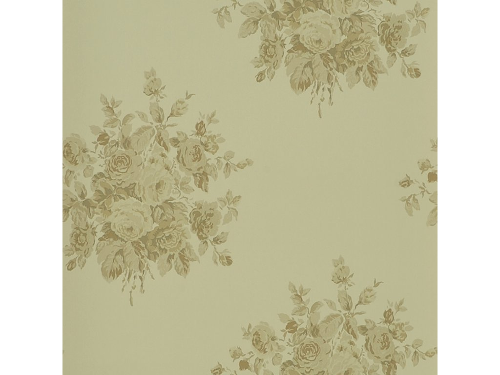 Wainscott Floral Brown and Beige Wallpaper PRL707 04