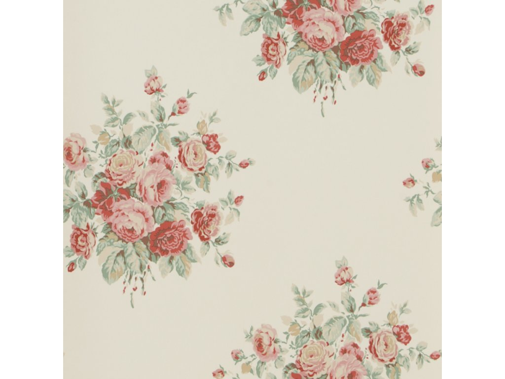 Wainscott Floral Pink and Purple Wallpaper PRL707 05