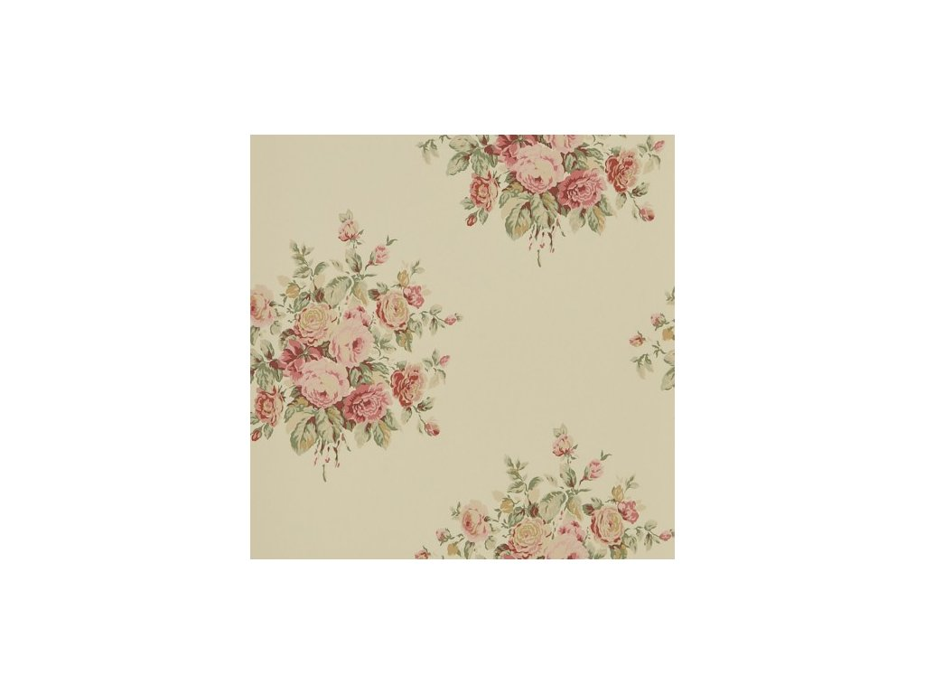 Wainscott Floral Pink and Purple Wallpaper PRL707 06