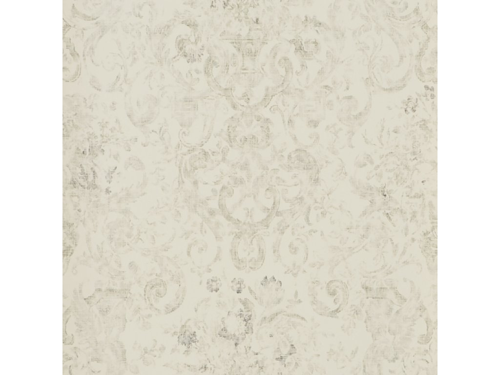 Old Hall Floral Natural, Ivory and White Wallpaper PRL704 02