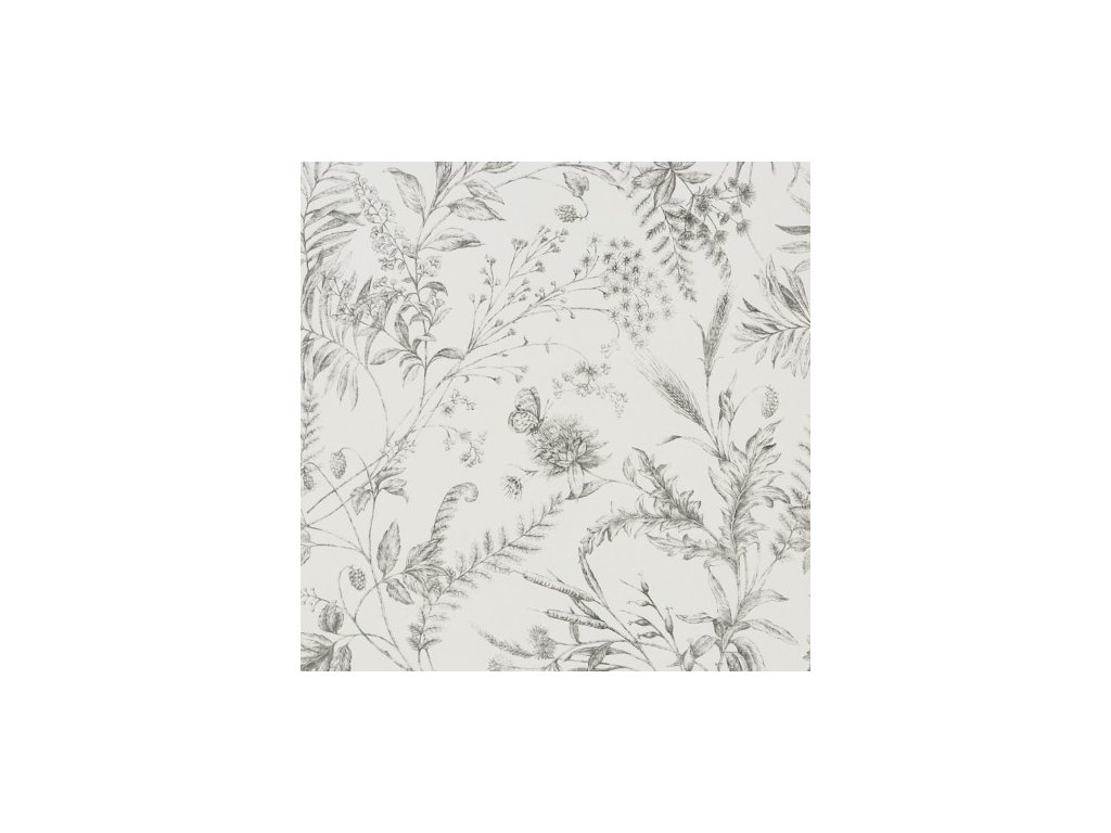 Fern Toile Natural, Ivory and White Wallpaper PRL710 03