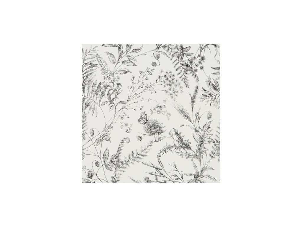 Fern Toile Natural, Ivory and White Wallpaper PRL710 04