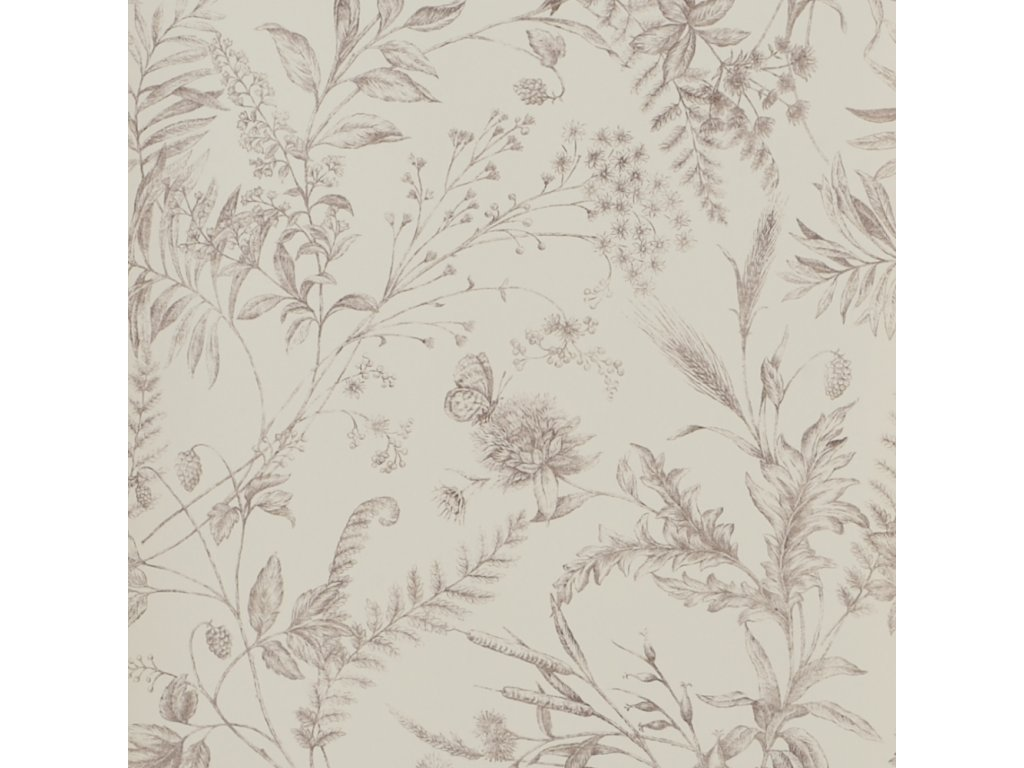 Fern Toile Natural, Ivory and White Wallpaper PRL710 06
