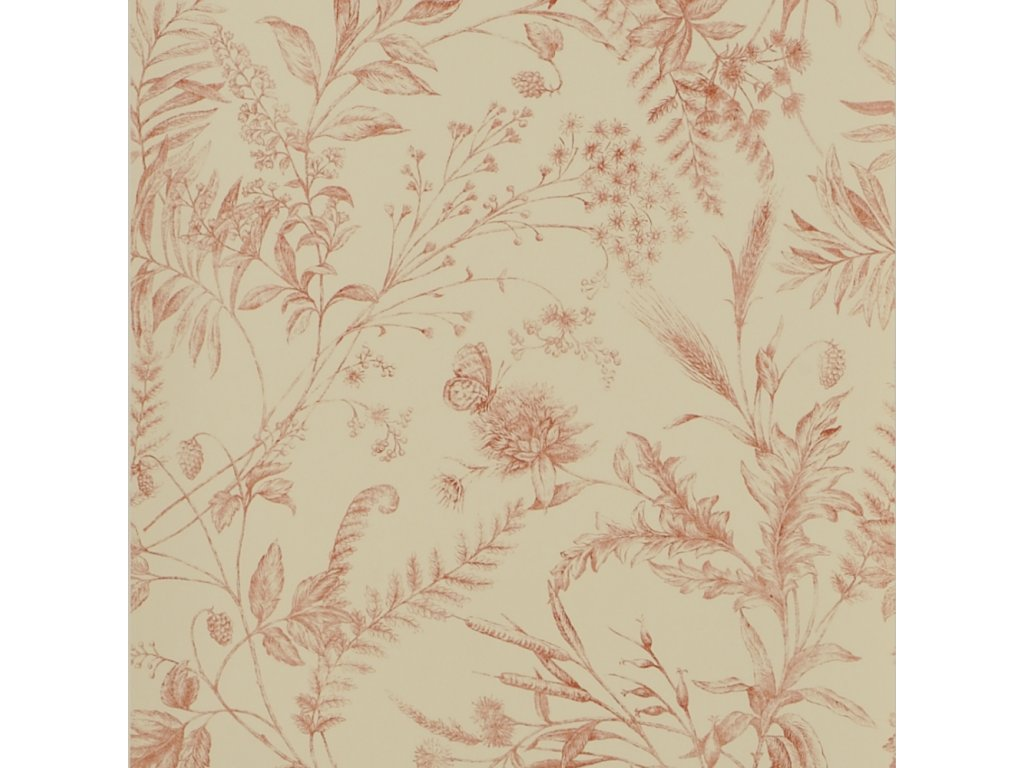 Fern Toile Red Wallpaper PRL710 07