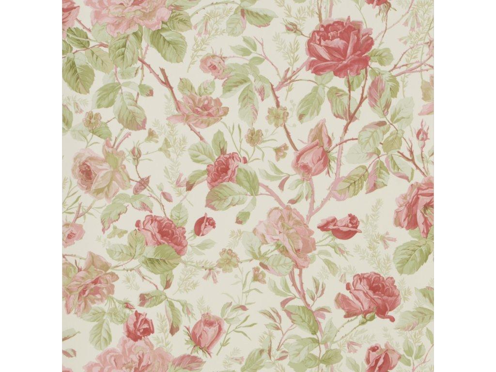 Marston Gate Floral Red Wallpaper PRL705 02