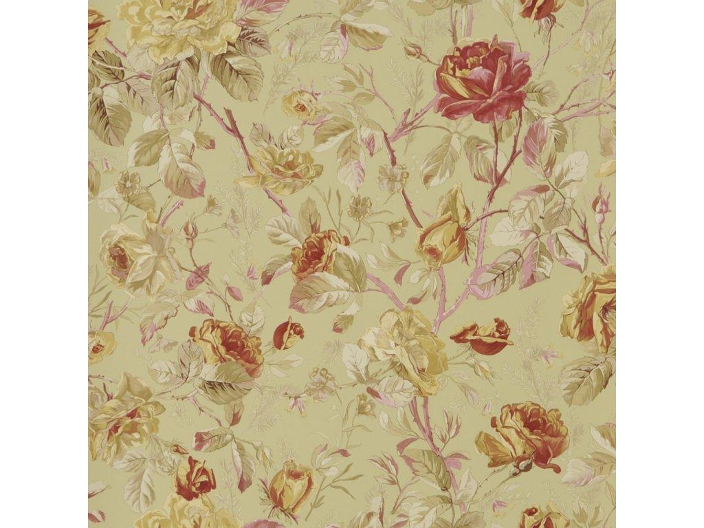 Marston Gate Floral Red Wallpaper PRL705 04