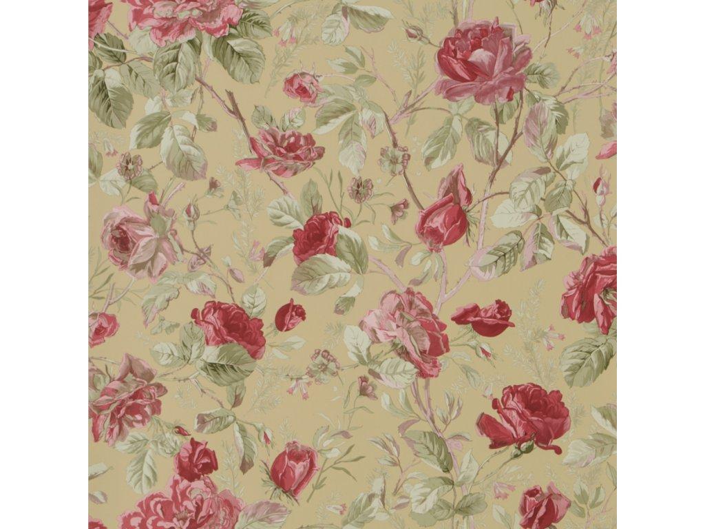 Marston Gate Floral Red Wallpaper PRL705 06