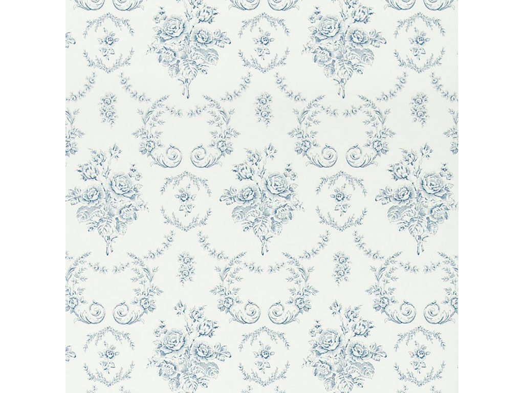 Saratoga Toile Natural, Ivory and White Wallpaper PRL033 01