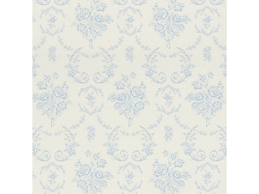 Saratoga Toile Natural, Ivory and White Wallpaper PRL033 02