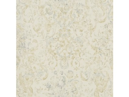 Old Hall Floral Natural, Ivory and White Wallpaper PRL704 01