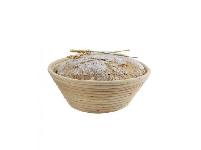 Ošatka ratan na kváskový chlebík na kysnutie domáceho chleba - okrúhla 19cm na 0,70kg bochník