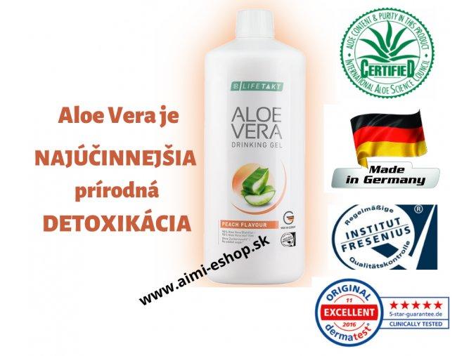 LR LIFETAKT Aloe Vera Drinking Gél Broskyňa 1 000 ml