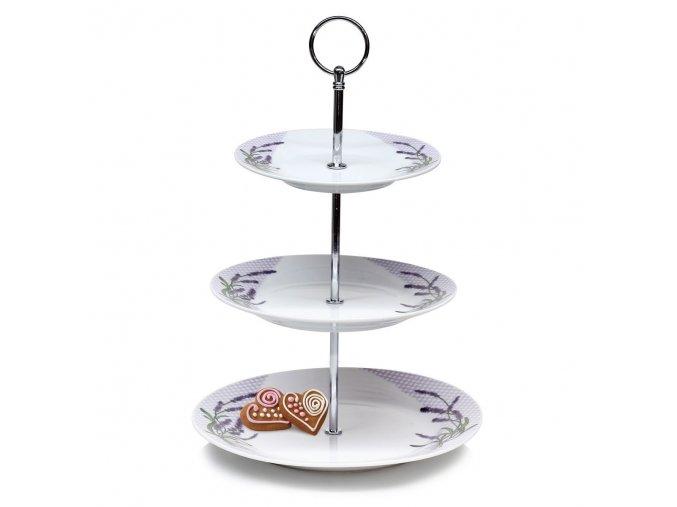 banquet lavender 3poschodovy stojan na cukrovinky 1full