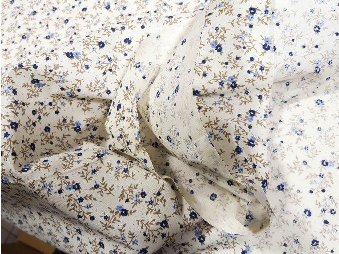 bavlnena latka kvietky na vetvickach 140 cm 14918597