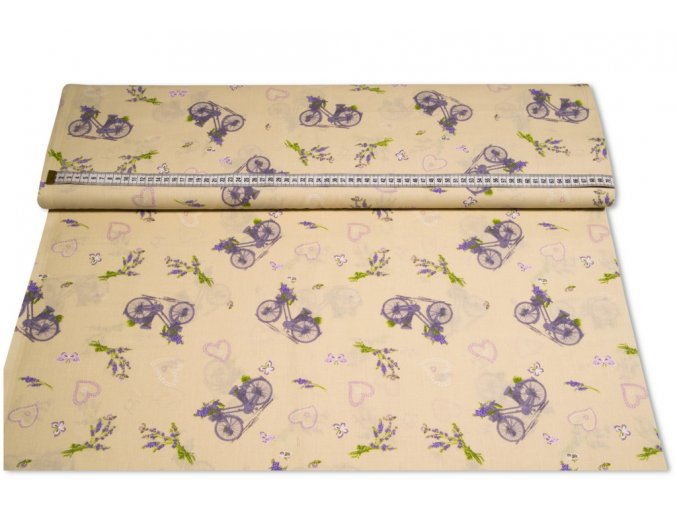 bavlnena latka levandula na bicykli 145 cm mo 16334228