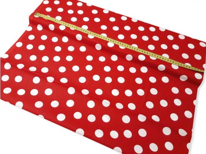 bavlnena latka cervene bodky 28 mm sirka 140 cm 13872125