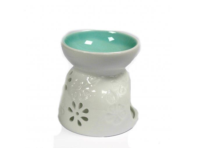 Klasická Biela Aróma Lampa - Kvetinový Vzor