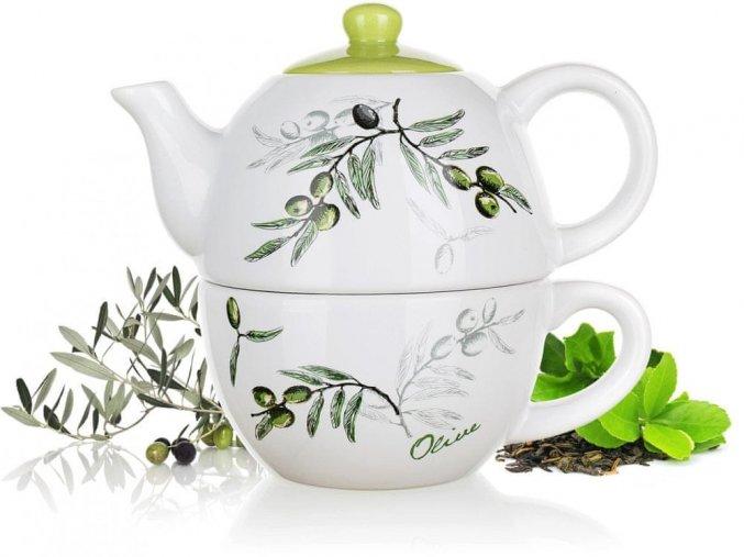 čajník zelene olivy