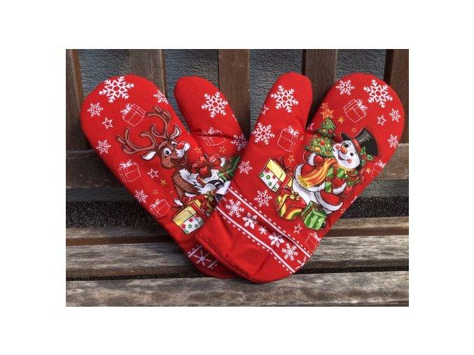 rukavice rod vianoce cervene 490x368