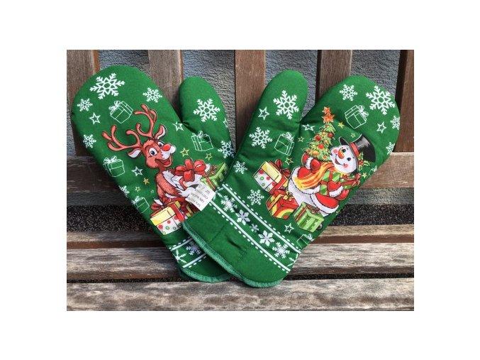 rukavice rod vianoce zelene 320x213