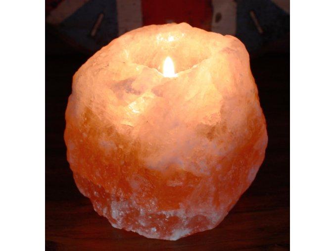 Svietnik  Himalájska soľ na čajovú sviečku