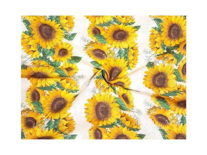 dekoracna latka slnecnica v pasoch 140 cm 75357773