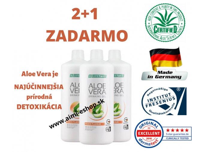 Aloe Vera LR LIFETAKT séria 3x Drinking Gél BROSKYŇA 1000ml 2+1 ZADARMO