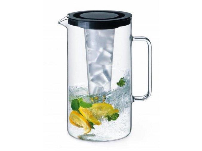 Sklenený džbán SIMAX na vodu a čaj objem 2,5 litra s vložkou na ľad a so sitkom na vylúhovanie a vekom WW