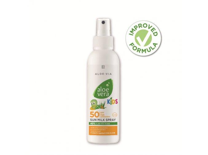 Aloe Vera Kids Sun SPF 50 Opaľovacie mlieko pre deti v spreji LR s UVA a UVB ochrana 150ml