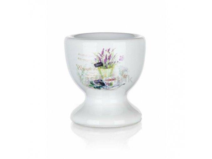 Stojan na vajíčko s motívom Levanduľa keramika Banquet