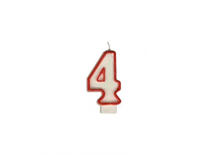 sviečka na tortu cislo 4