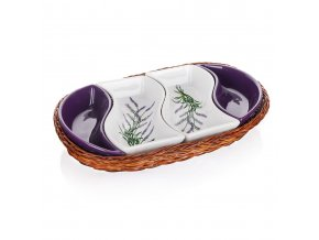banguet lavender servirovacie misy v kosiku 30 5cm 1full