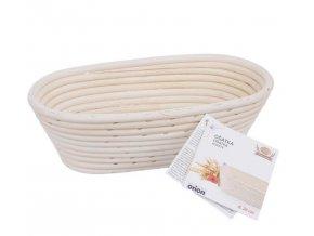 Ošatka ratan na kváskový chlebík na kysnutie domáceho chleba - oválna 26 cm * 13,5 cm * 9 cm na 1kg bochník
