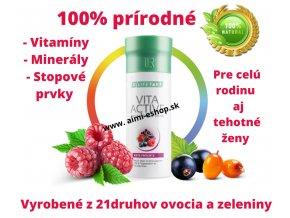 LR VITA ACTIVE RED - 150ml Prírodné vitamíny a minerály pre deti, tehotné aj dospelých