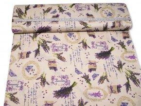 bavlnena latka lavande so vzorom 140 cm 20782904