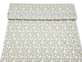 bavlnena latka jemny sivy kvet 140 cm 8395416