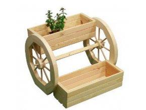 Drevený záhradný stojan na truhlíky 40cm - záhradná dekorácia