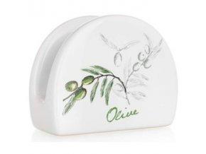 stojan na servitky olivy zelene