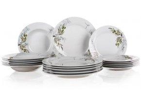 Porcelánová tanierová súprava s motívom ZELENÉ OLIVY, Banquet