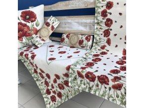 Gobelínový obrus štvorec 100*100cm s krásnym motívom Červené maky