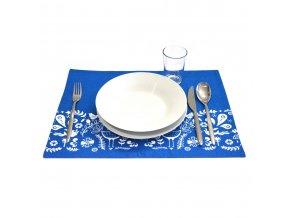 PRESTIERANIE bavlnené na stôl s ľudovým motívom 33*45cm ČERVENÉ MODRÉ