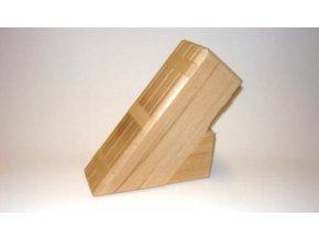 Stojan na nože drevený 18cm 6-nožový svetlé drevo