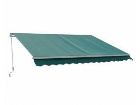 180118 markiza 4x2 5 m zelena s hlinikovy krytom