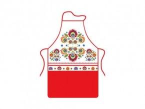 kuchynska zastera folk cervena 490x368