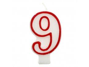 sviečka cislo 9