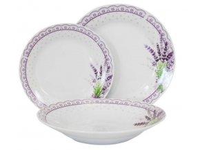 Porcelánová tanierová súprava 18-dielna Levanduľa