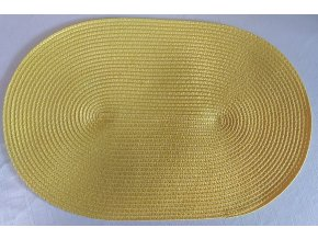 žlté prestieranie ovalne